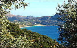 Plakias: View of the bay from the road to Sellia